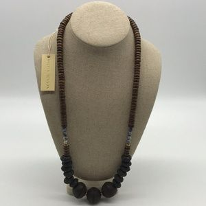 Sylvia Benson Black & Brown Beaded Necklace